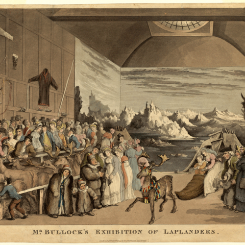 «Mr. Bullock's exhibition of Laplanders»